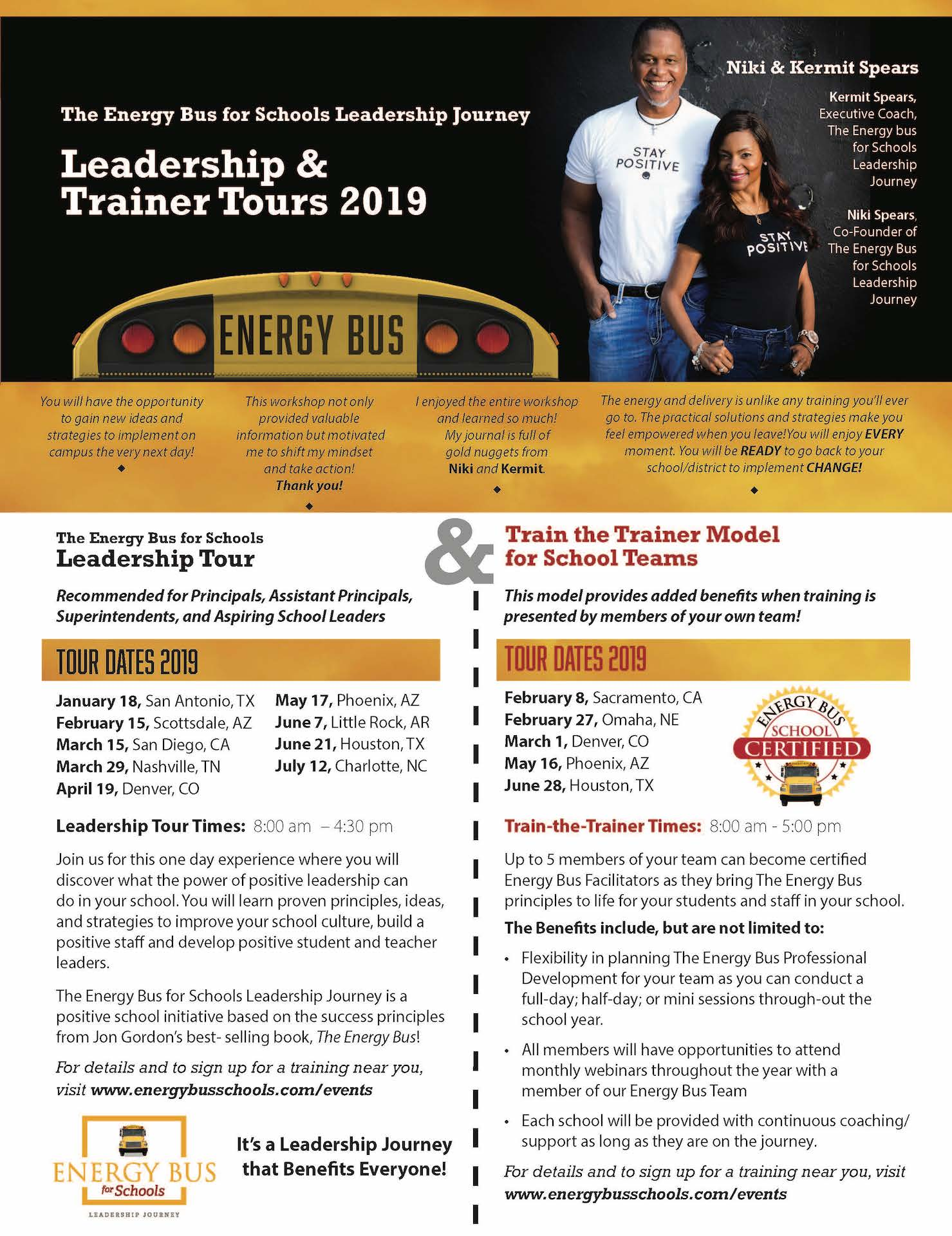 Energy Bus for Schools Leadership Journey