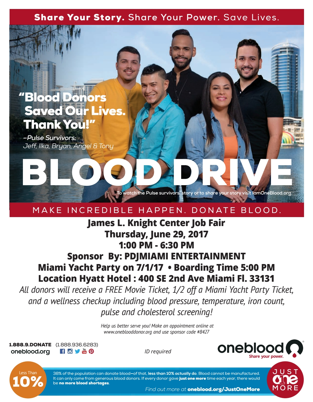 One Blood - PDJ miami yacht party 2017 july 1