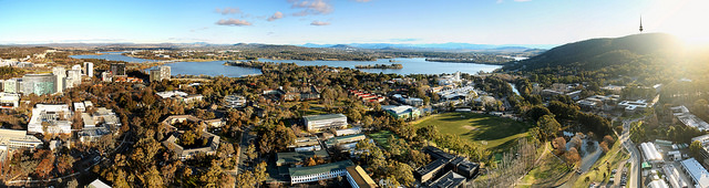ANU Campus Arial view