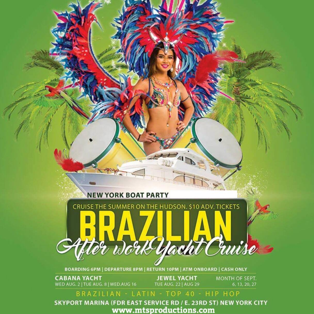 Brazilian After Work Yacht Party Tickets, Wed, Aug 16, 2017 at 6 ...