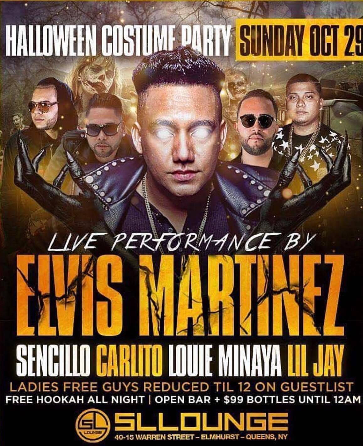 Halloween Elvis Martinez Live at SL Lounge Tickets, Sun, Oct 29 ...