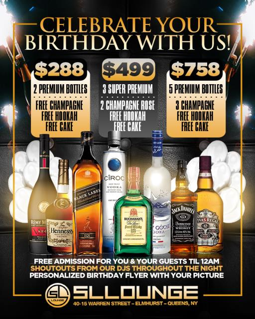 sl lounge birthday packages