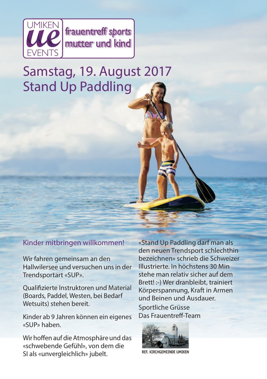 SUP Flyer Frauen S. 1