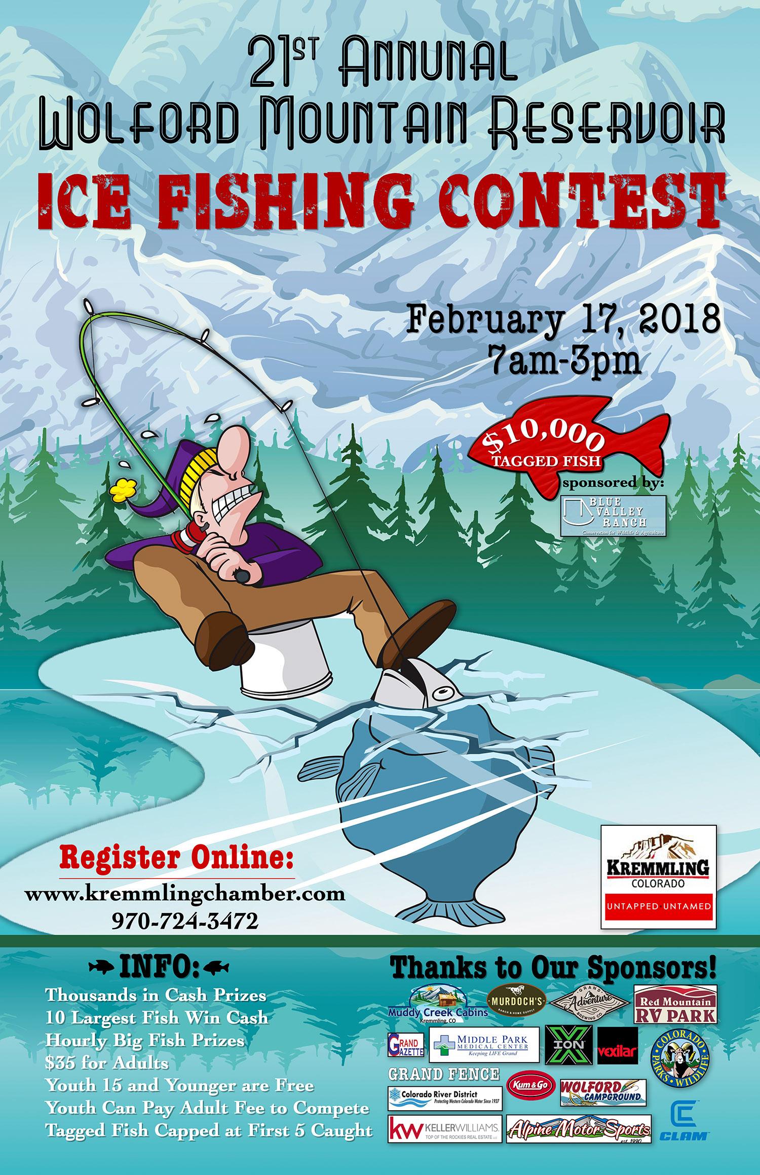 Wolford ice fishing tournament 2018 tickets fri feb 16 for Ice fishing tournament
