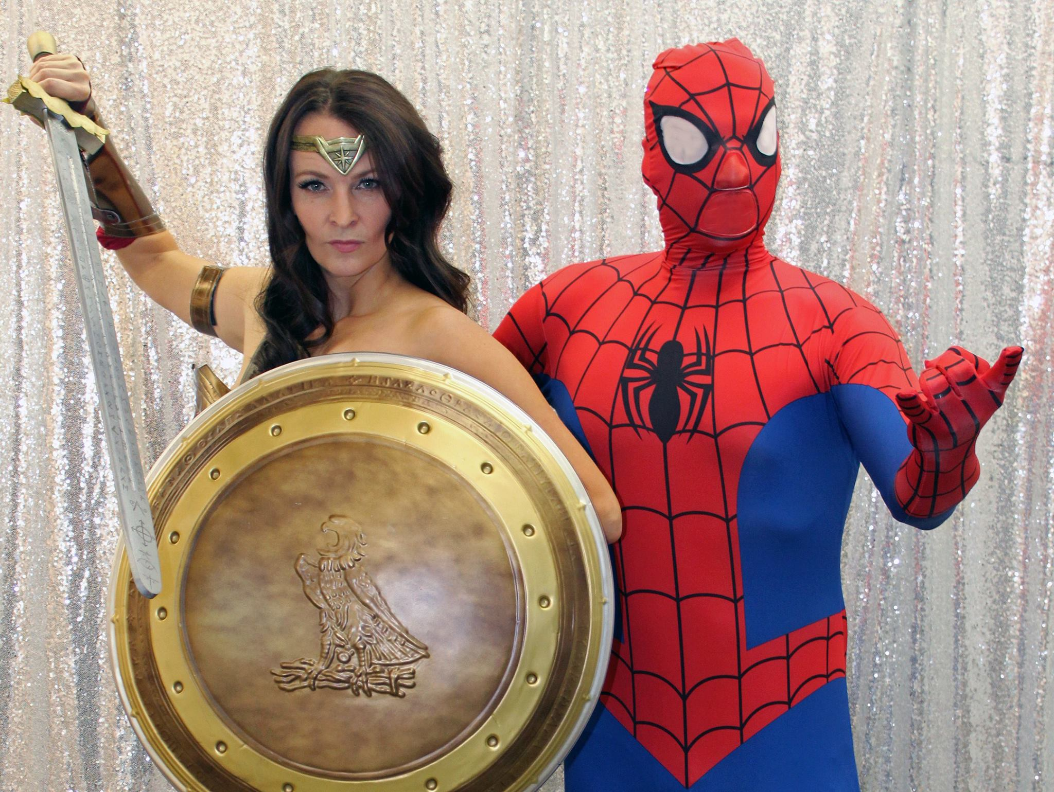 Wonder Woman and Spiderman Live