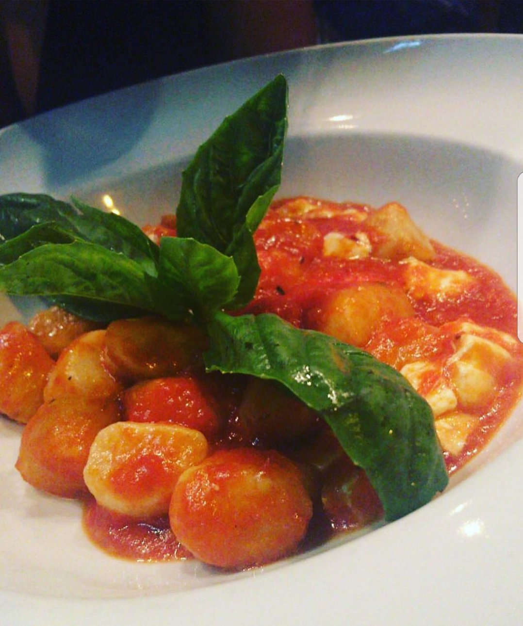 Gnocchi Finished Dish with Bolognese Sauce