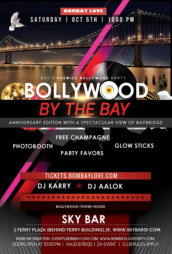 Bombay Love Bollywood by the Bay San Francisco Sky Bar Flyer