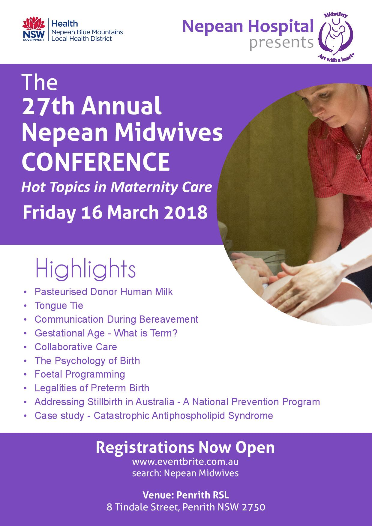 Nepean Midwives Conference 2018