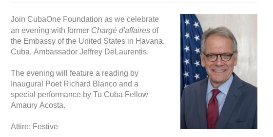 Evening with Ambassador Jeffrey DeLaurentis