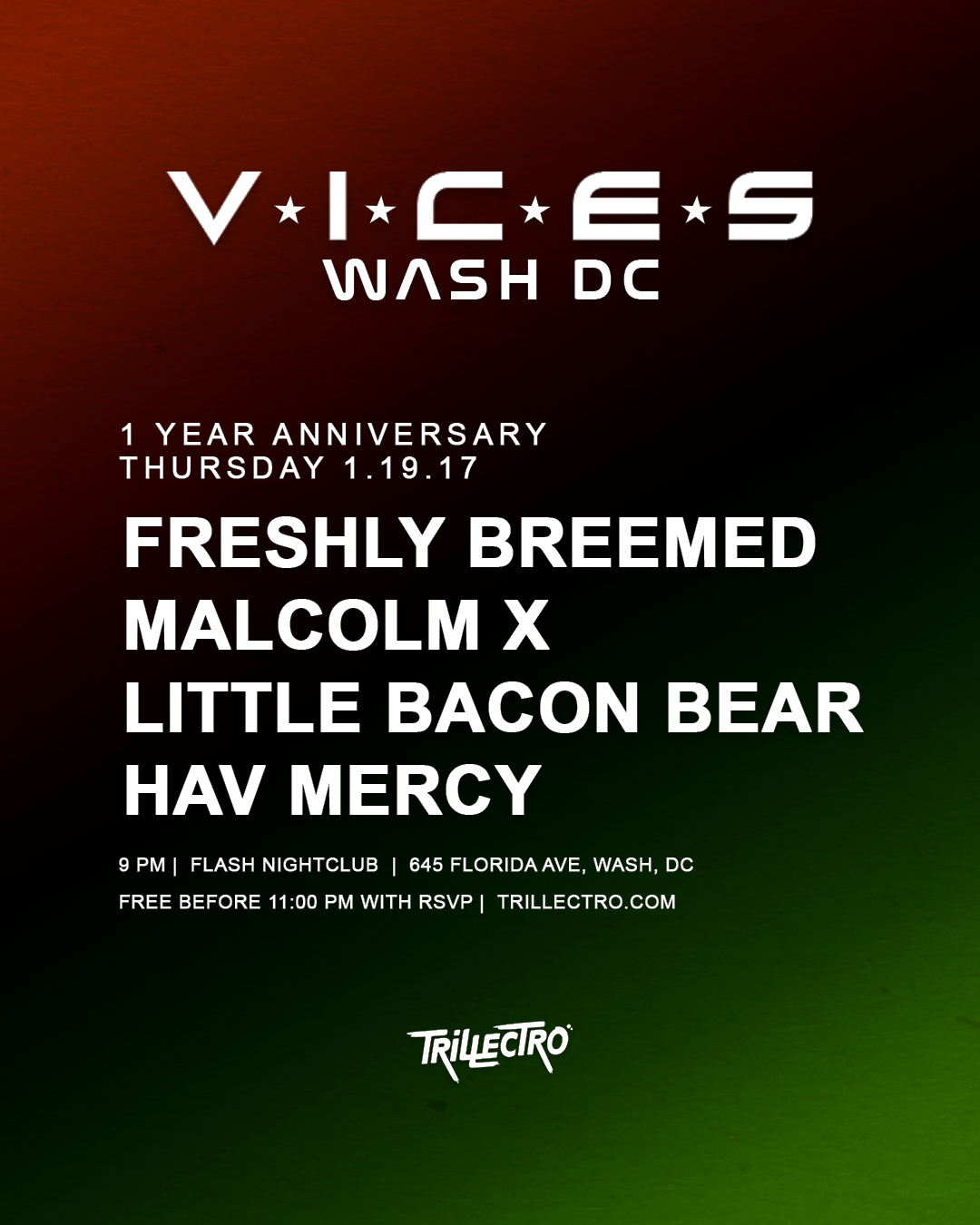 VICES DC 1 YEAR ANNIVERSARY