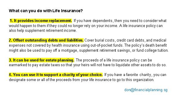 What can you do with life insurance