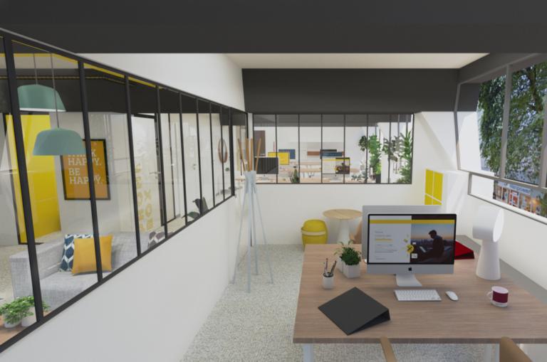 Vue d'architecte des aménagements intérieurs de Wexperience