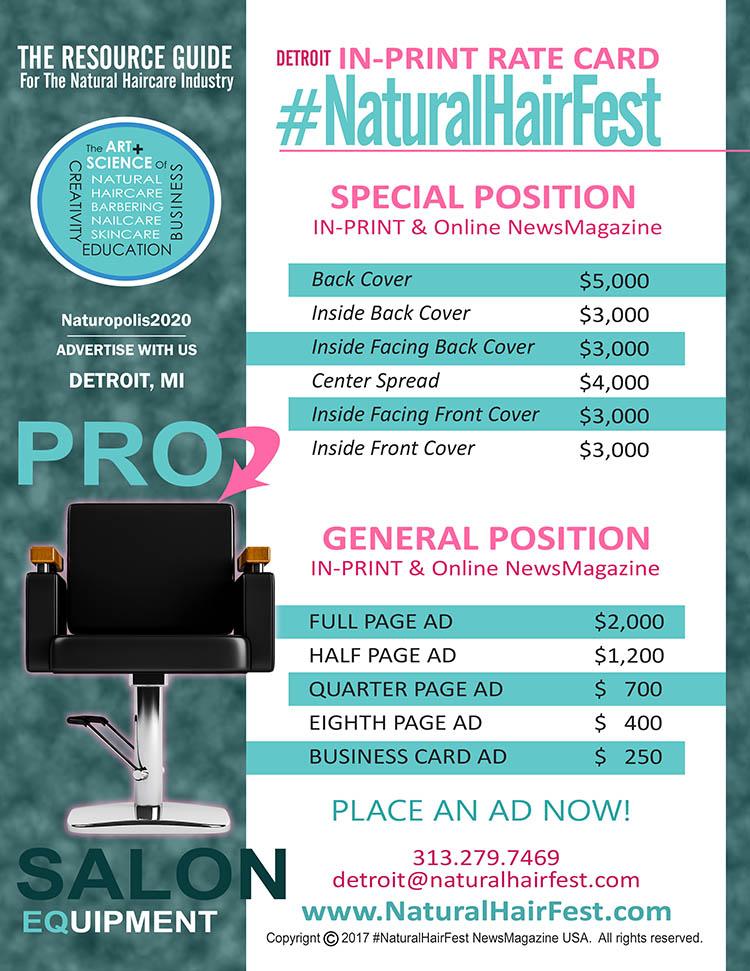 #NaturalHairFest DETROIT News Mag RATE CARD