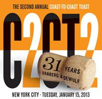 Vanberg & DeWulf's Coast to Coast Toast - NYC Edition