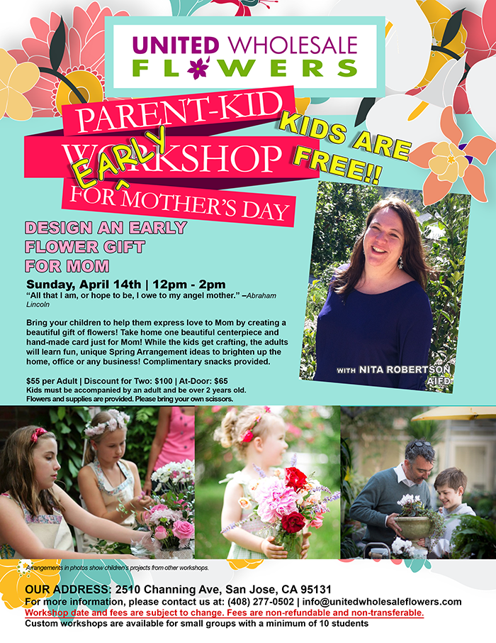 Flower Class Parent Kid Workshop For Early Mother S Day With Nita