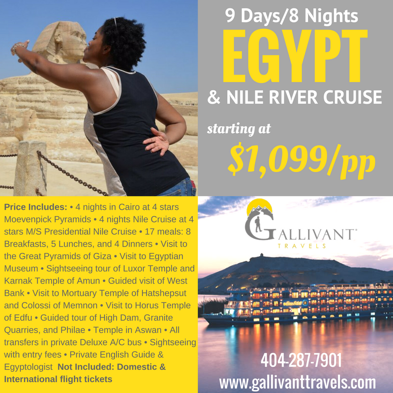 Tour Of Egypt And Nile River Cruise Tickets, Multiple