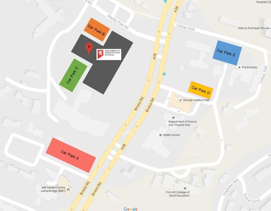 University of Birmingham School carparks