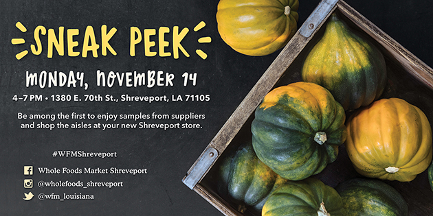 Whole Foods Market Sneak Peek Invite