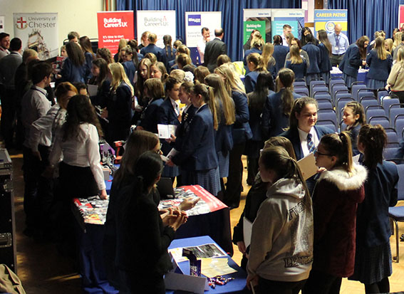 Sandbach High Careers Fair students