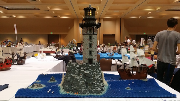 Impressive Lighthouse with Waves 2015 Bricks by the Bay