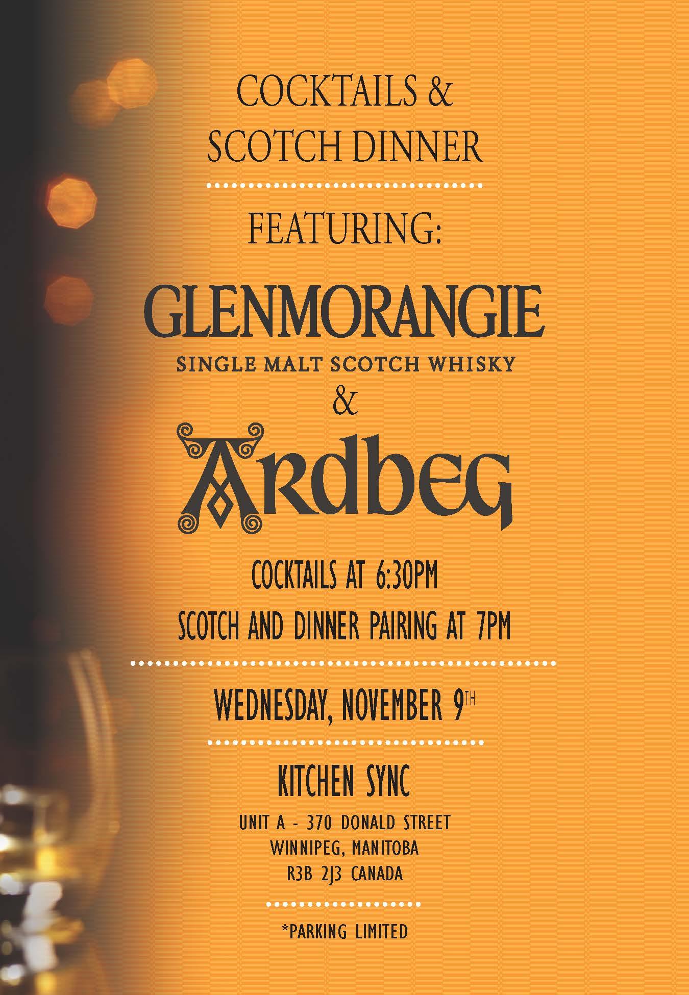 Glenmorangie/Ardbeg Scotch Dinner