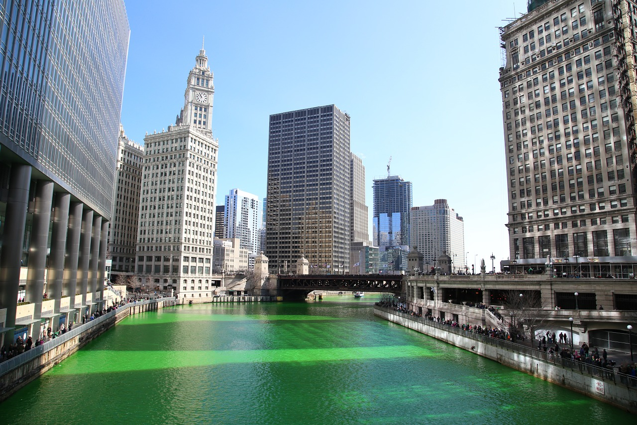 Chicago River During St. Pats