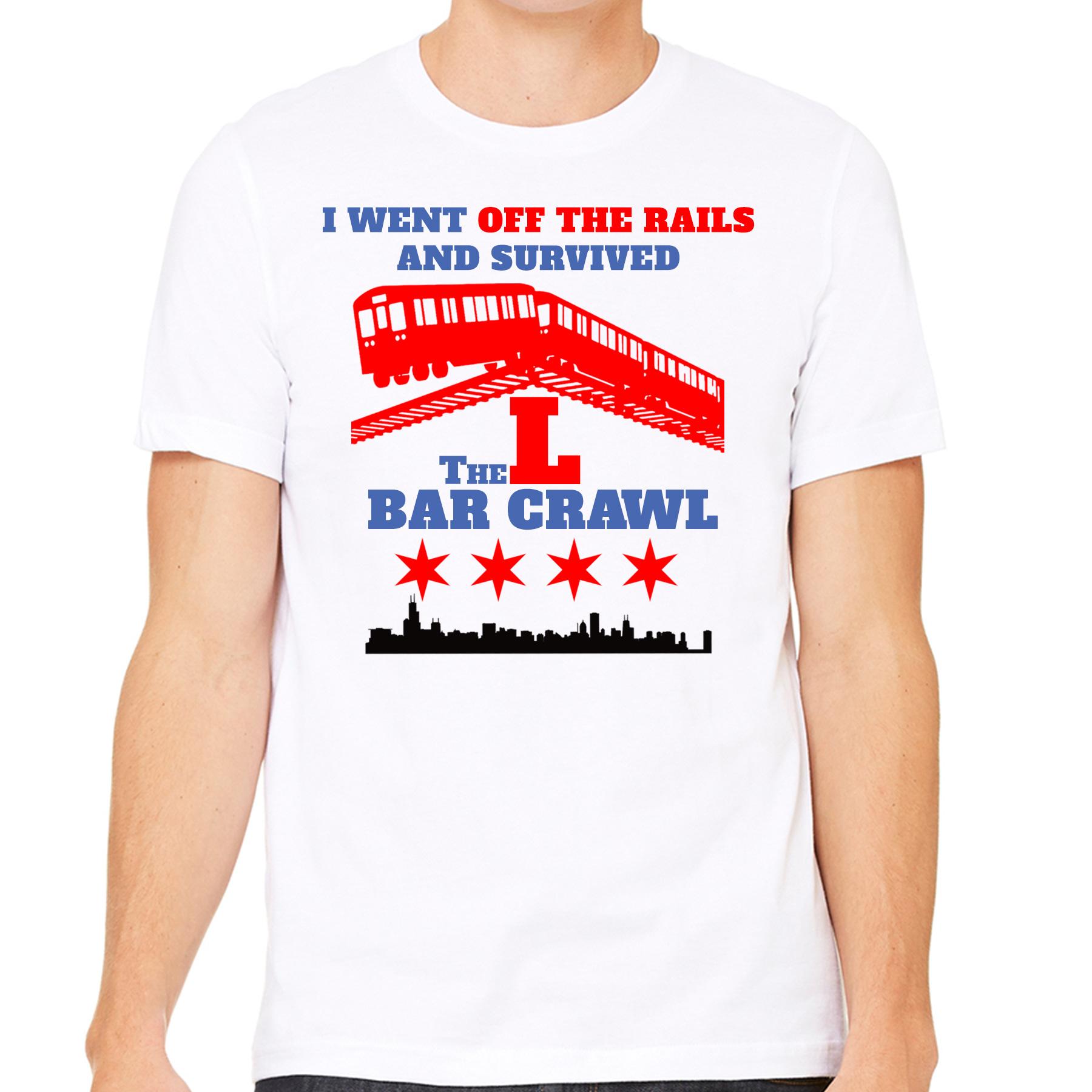 Meet People Chicago - L Bar Crawl T Shirt