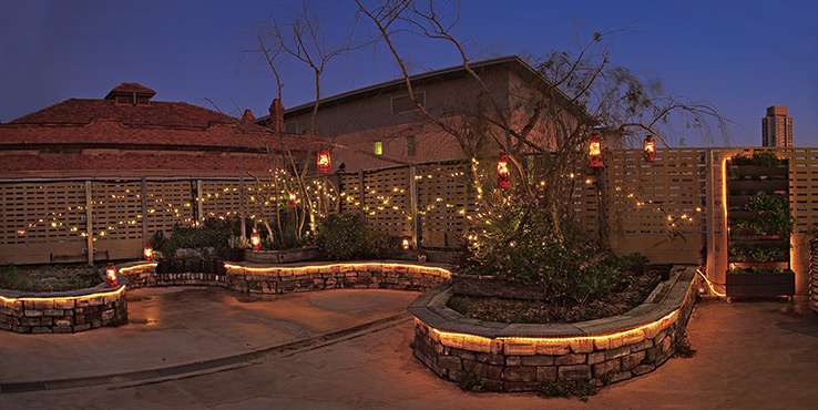 107 Projects Fairy Light Filled Rooftop Garden