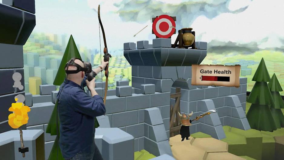 tiro al arco. haz de guillermo tell disparando flechas con realidad virtual