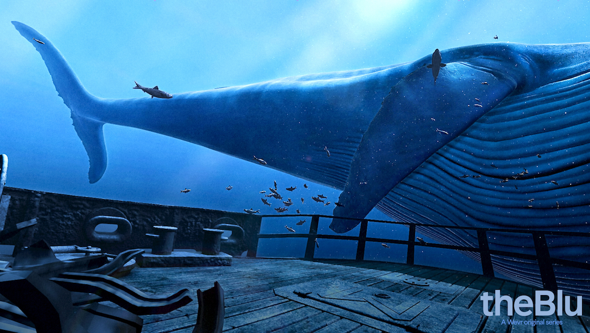the blu, realidad virtual fondo marino con ballena de 23 metros barcelona vive virtual