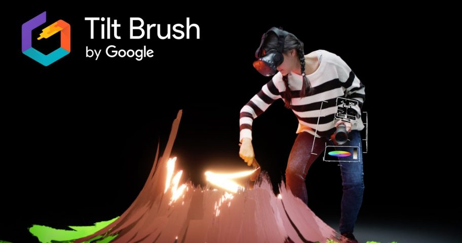 tilt brush pintar en 3D con realidad virtual en vive virtual barcelona