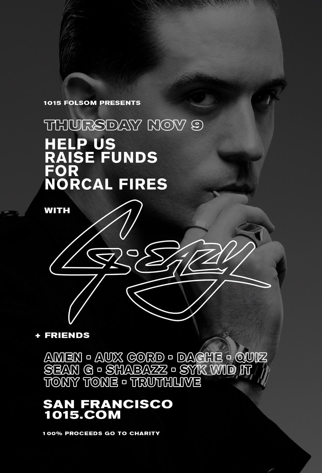G-Eazy's Fire Relief Fundraiser