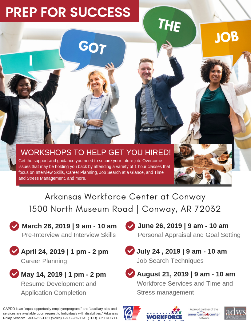 Prep for Success - Workshops to Help Get You Hired in Conway, AR