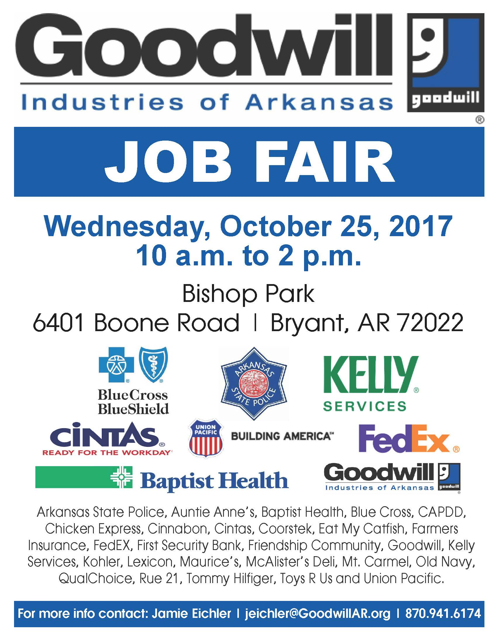 Goodwill Hiring Event in Bryant, AR