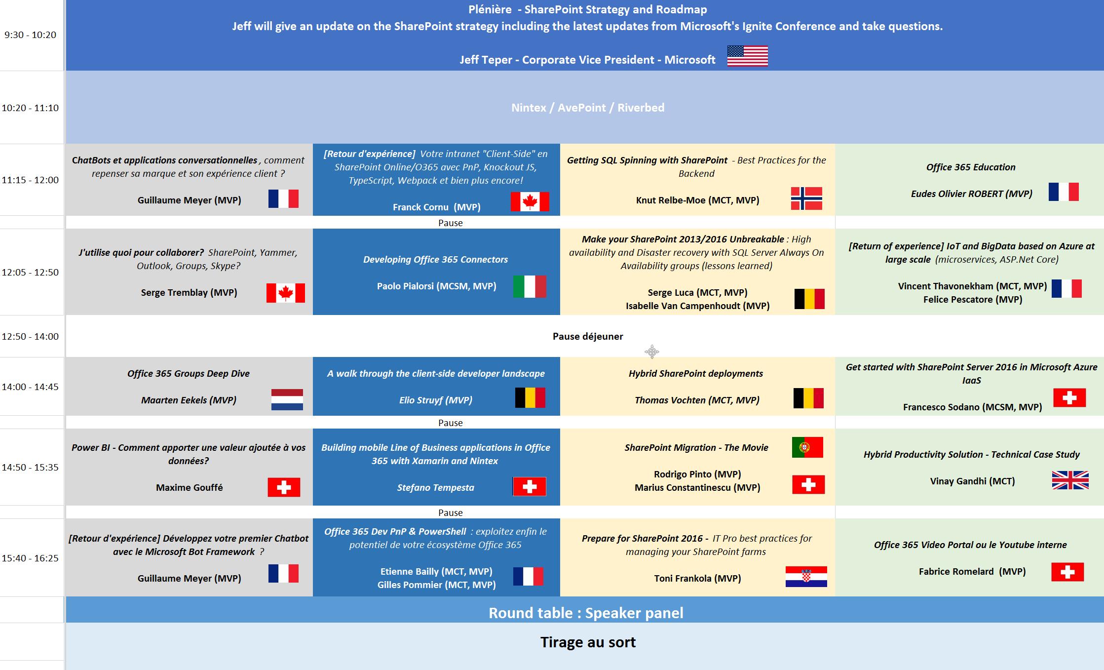 SPS Geneva Schedule