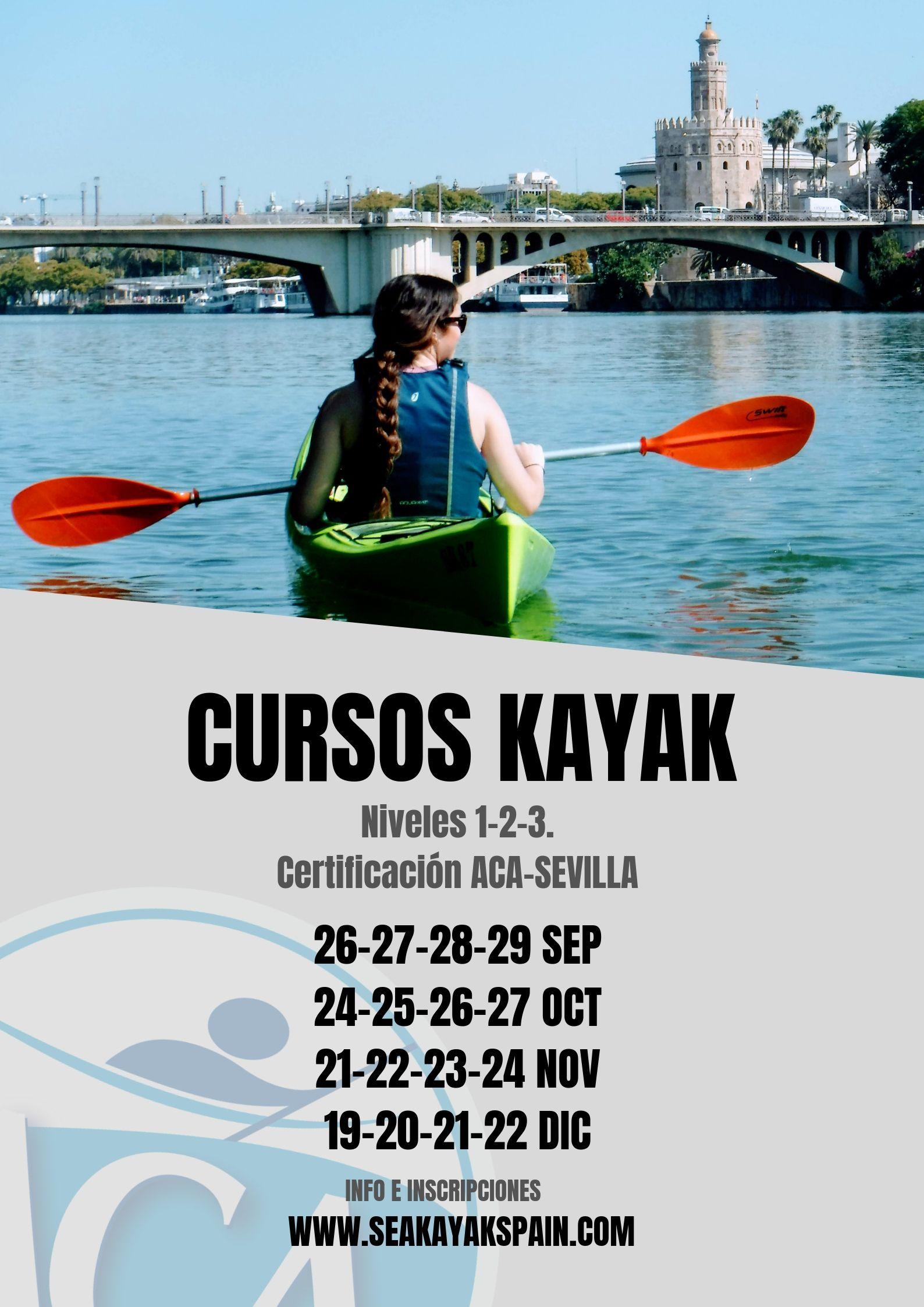 curso kayak ACA Sevilla.Spain