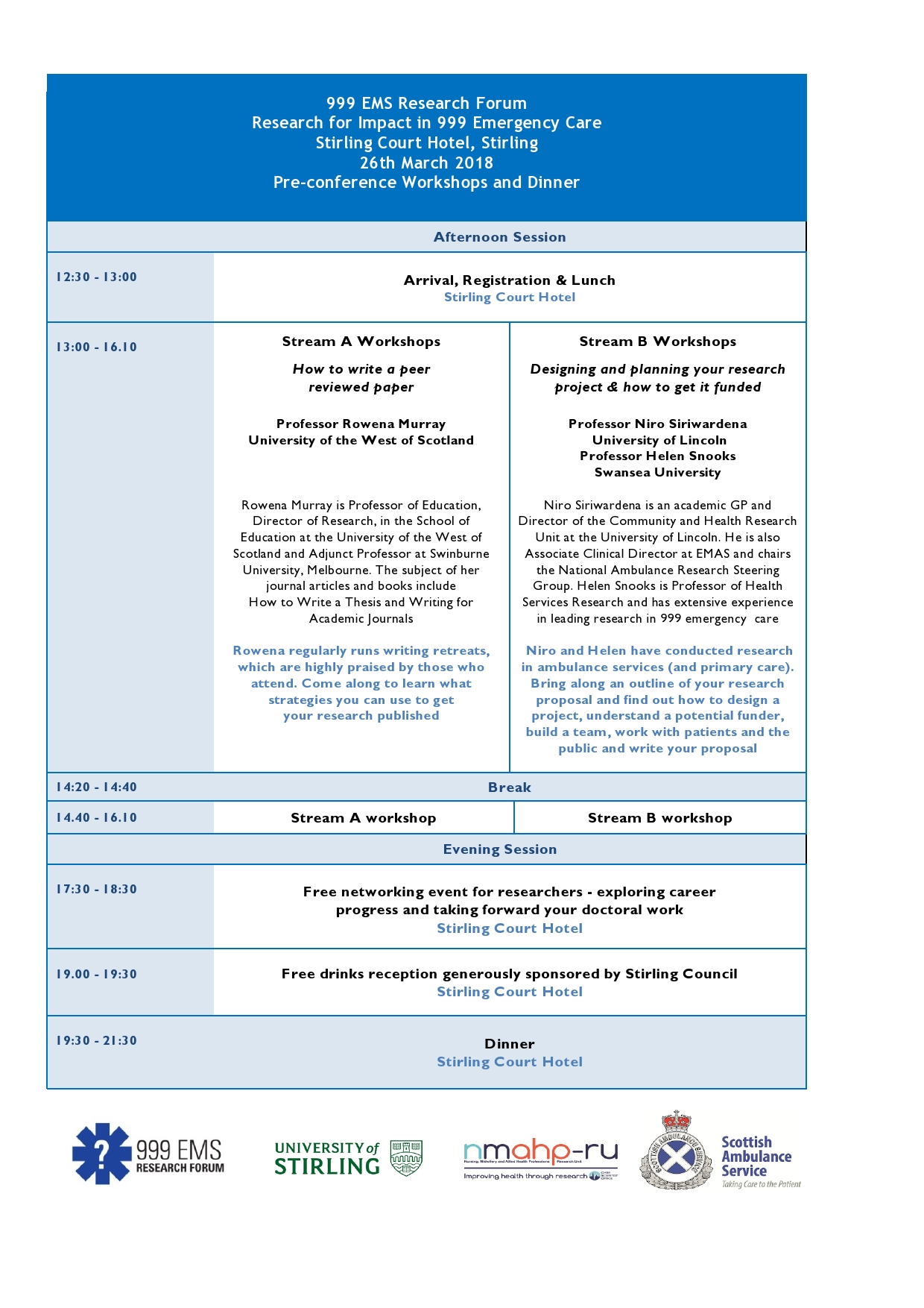 Pre-conference Programme
