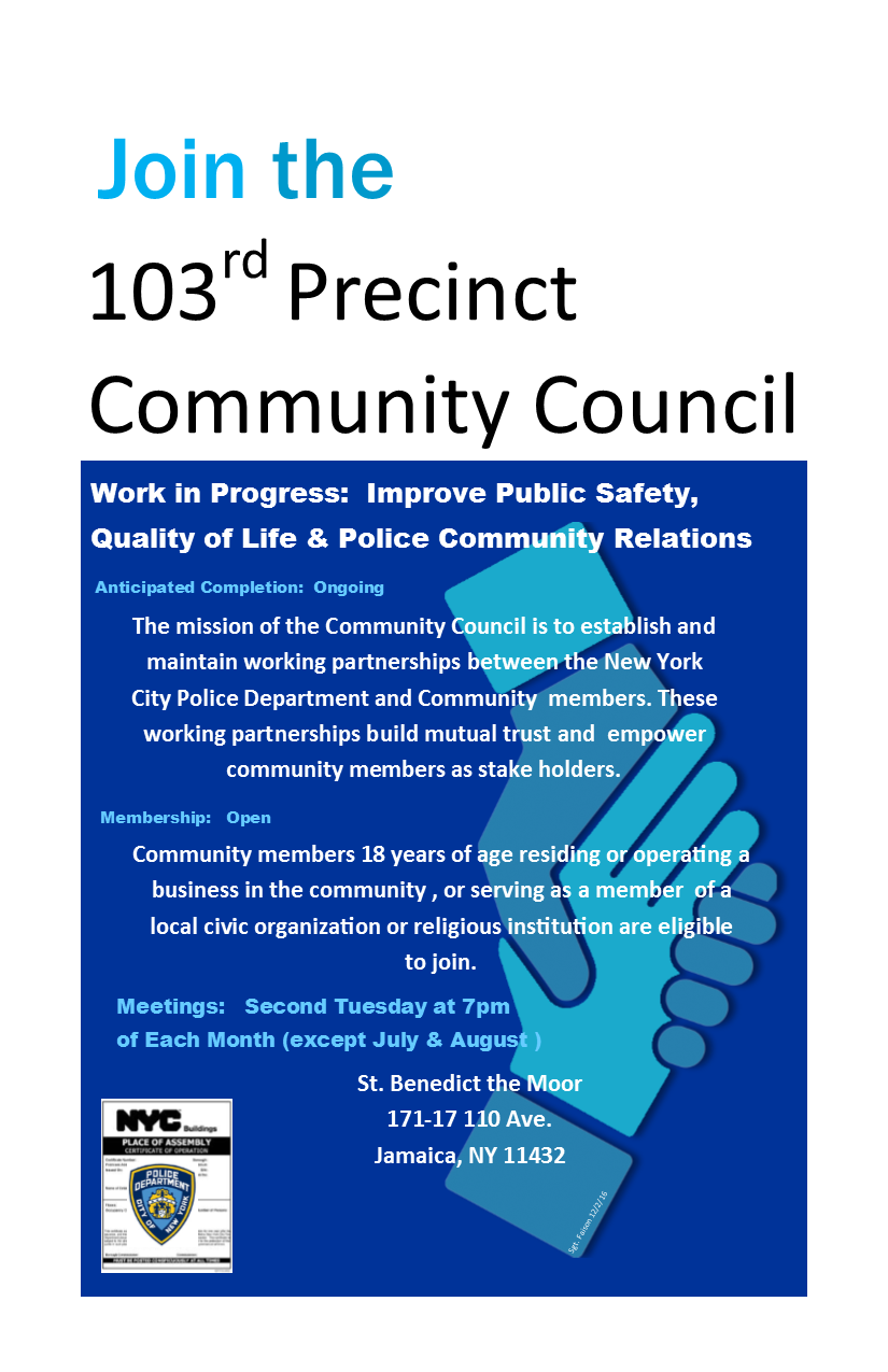 community council flyer