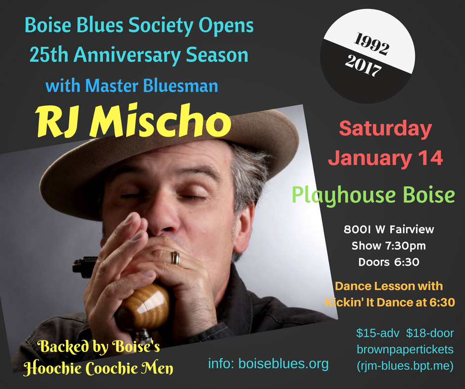 RJ MISCHO COMING TO PLAYHOUSE BOISE