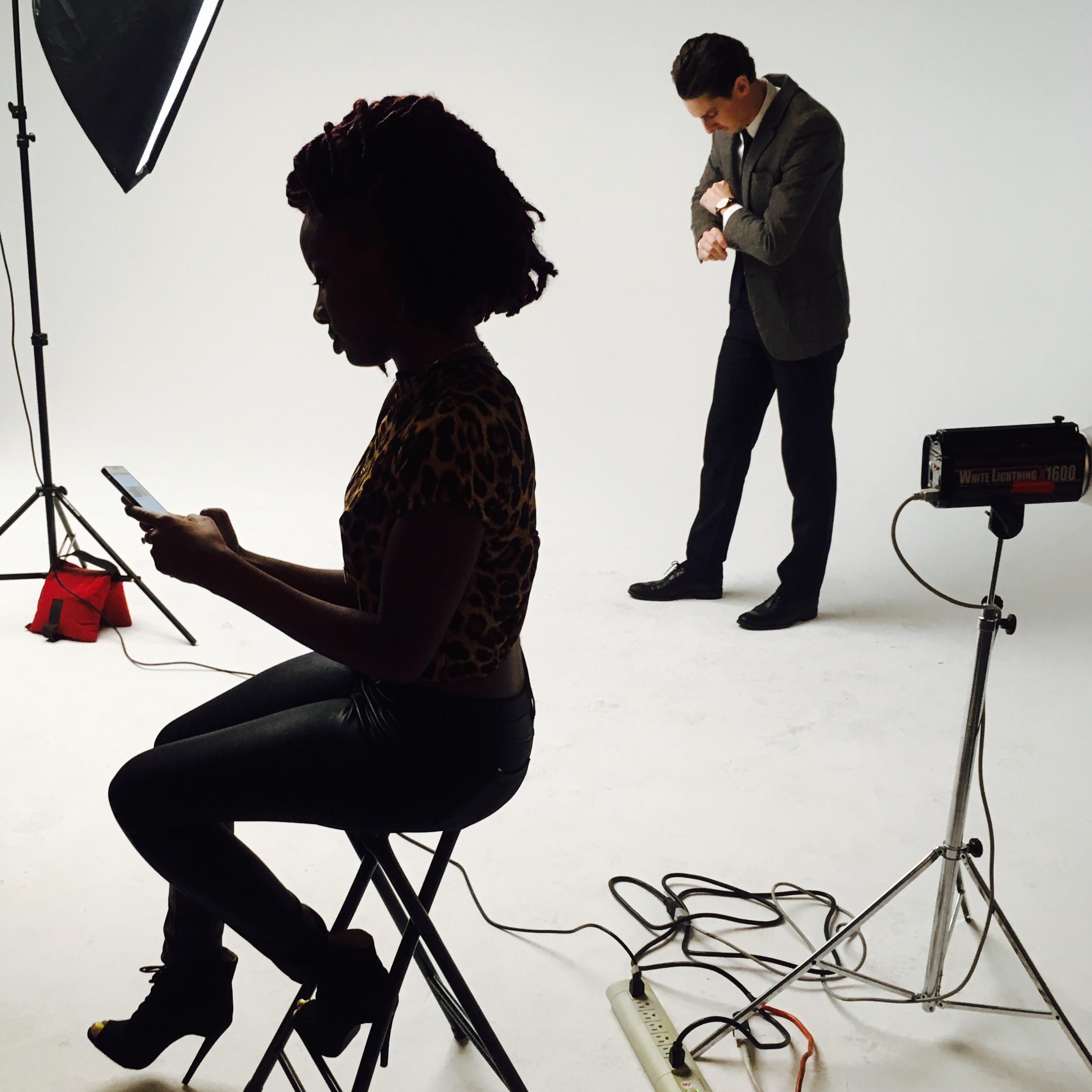 Silhouette in studio