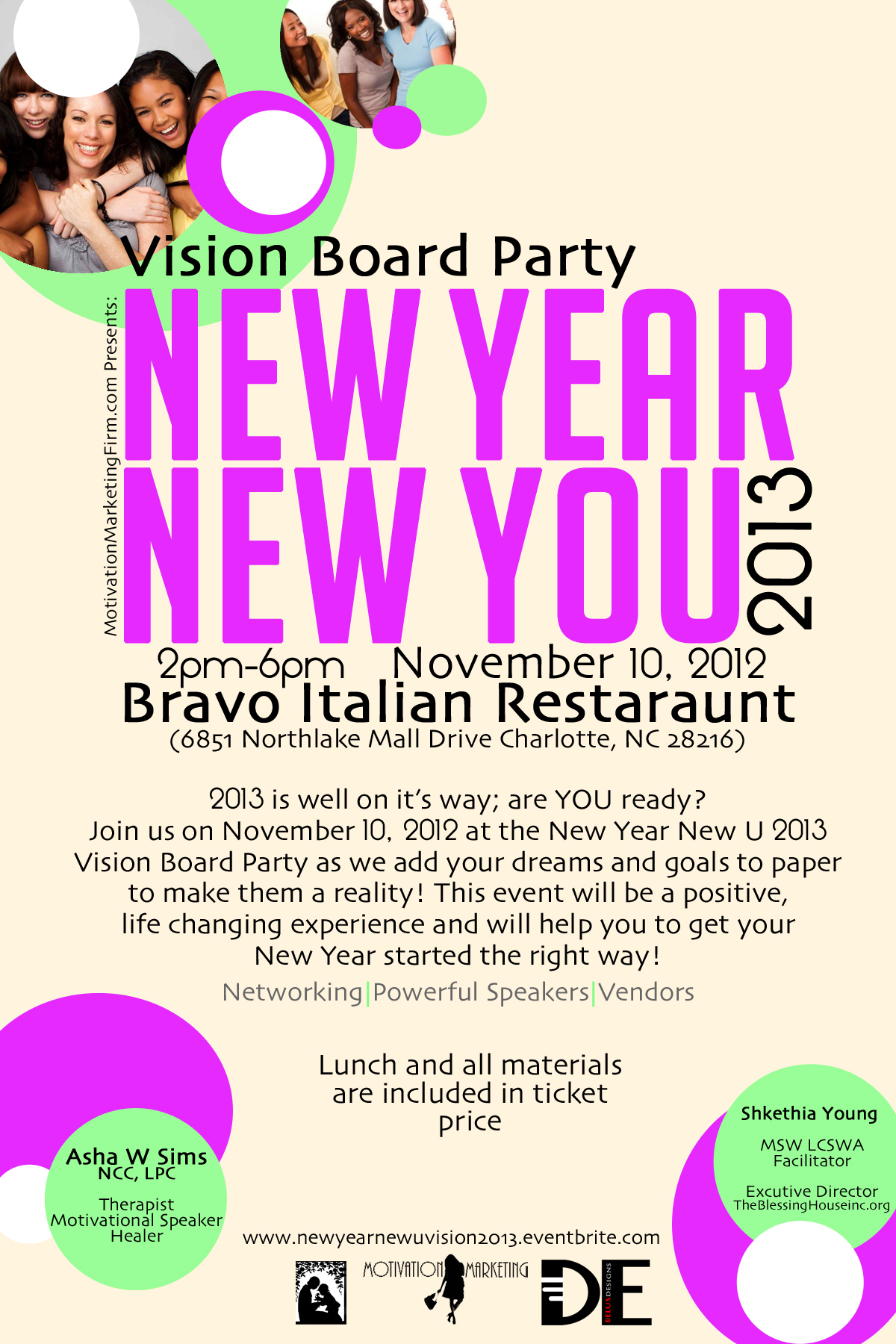Vision Board Party flyer