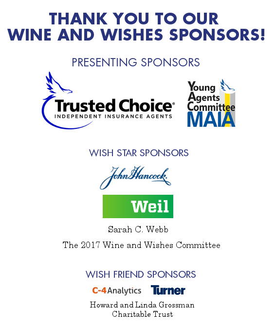 Thank you to our Wine and Wishes sponsors!