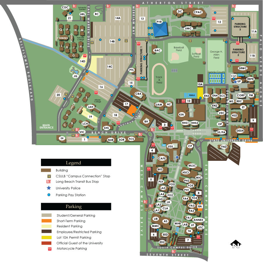 Csulb Parking Map Csulb Parking Map | compressportnederland Csulb Parking Map
