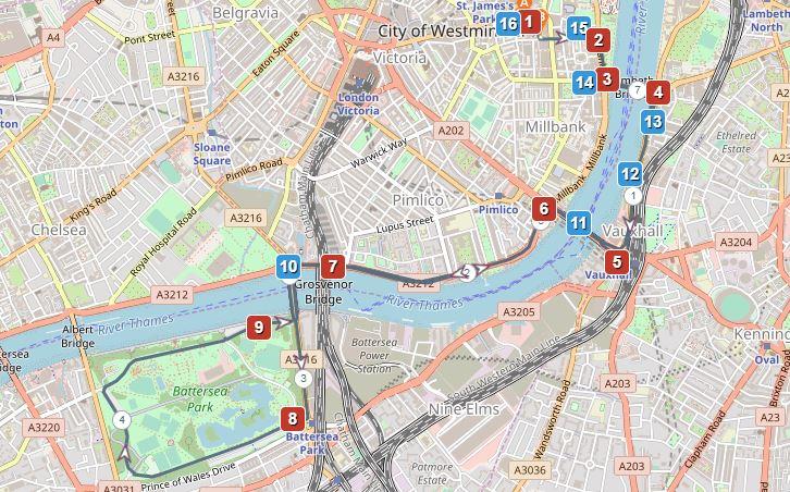 10 k walk route