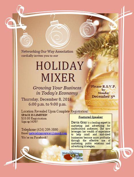 Holiday 2011 Mixer 12-8-11
