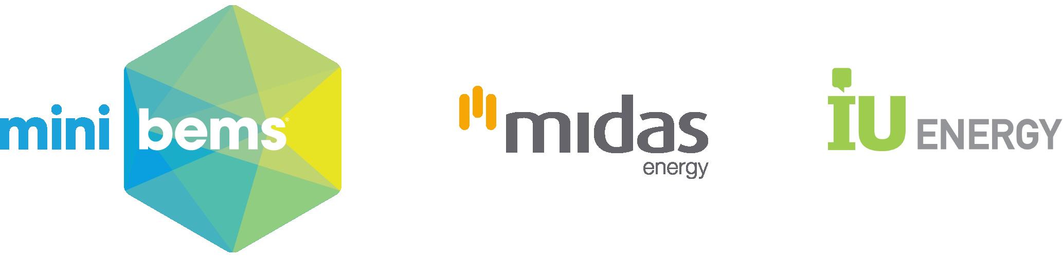 Minibems Midas IU Energy Logos