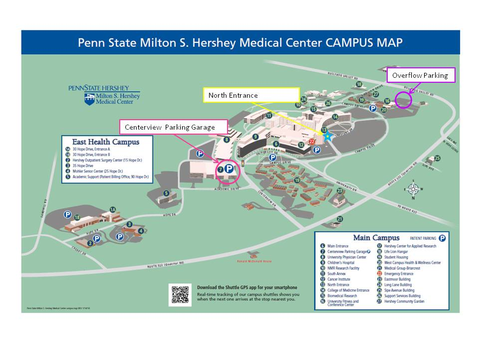 Penn State Hershey First Floor Map