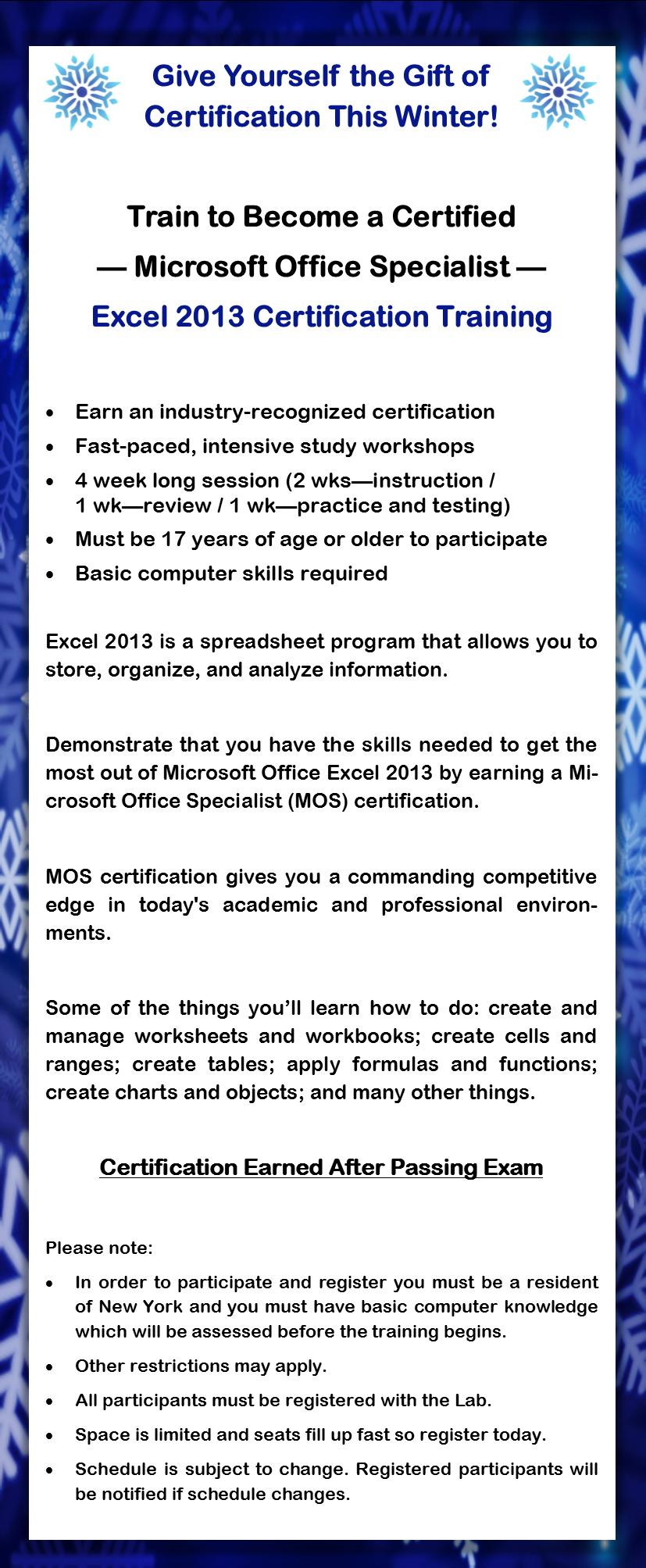 Microsoft excel training 2013 winter institute november 27 description xflitez Image collections