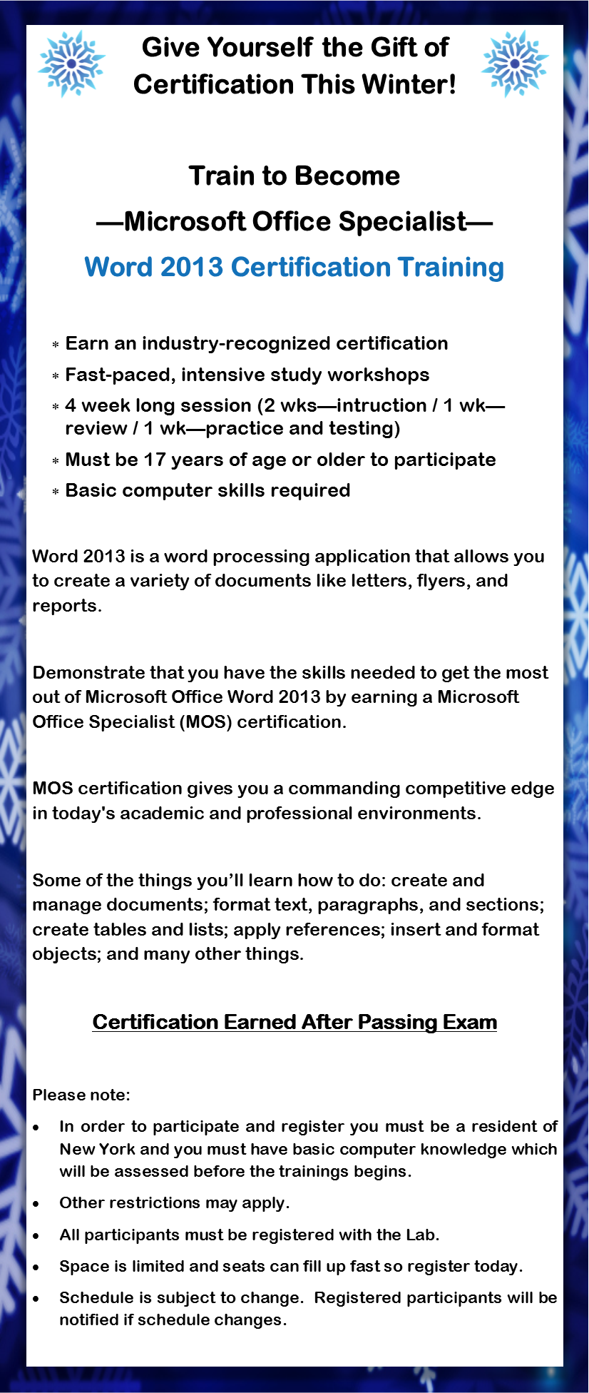Microsoft word training 2013 winter institute november 27 description xflitez Images