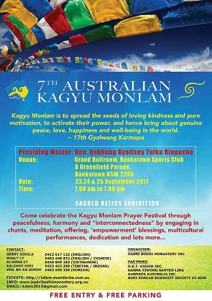 7th Australian Kagyu Monlam Festival 2017